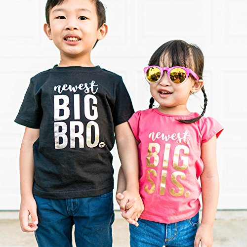 Fayfaire Big Sister Shirt Outfit : Boutique Quality Pregnancy Announcement Newest Big Sis 4T by Fayfaire (Image #6)