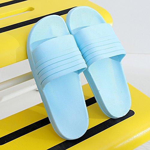 bagno cielo fankou di bagno spessore da pantofole antiscivolo 36 con un di stare paio estate blu maschio B plastica da 35 al in femminile fondo Pantofole morbido fresco rqF7wr