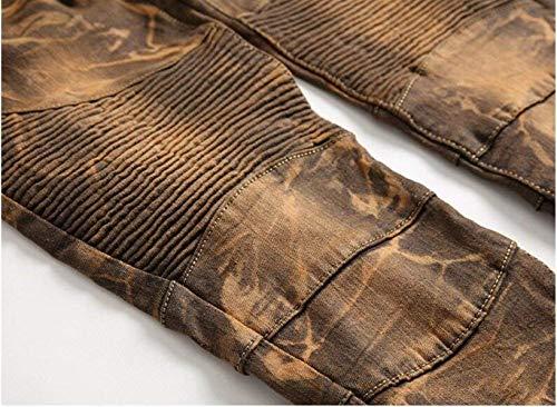 Alla Jeans I Cotone Self Ne Especial Dritto Da Originali coltivazione Ssig Bronze Uomo In Hanno Moda Denim Estilo Cowboy Vecchi Classici aXPwxf