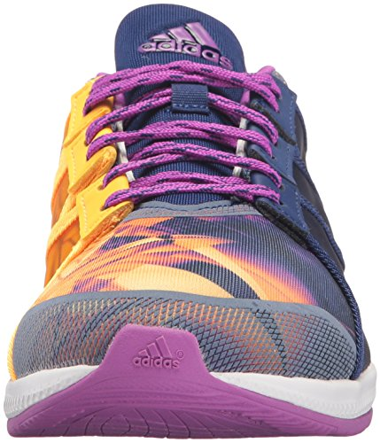 Adidas Performance Womens Gymbreaker Bounce Cross-trainer Scarpa Shock Viola Oro Solare / Bianco