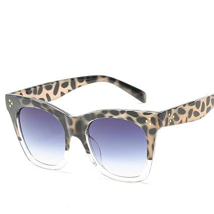 BiuTeFang Gafas de Sol Mujer Hombre Polarizadas Europa y lo Estados Unidos marco de grandes gafas
