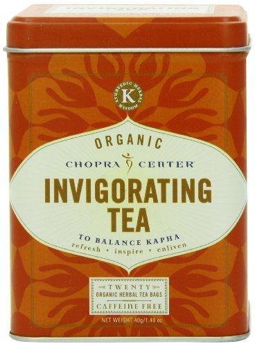 Kapha Tea (Chopra Organic Tea Sachets, Invigorating Tea, 20 Count sachet tin)