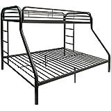 ComfortScape CS-02052BK Tritan Bunk Bed, Twin X-Large/Queen, Black