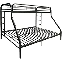 ComfortScape CS-02052BK Tritan Bunk Bed, Twin X-Large/Queen, Black
