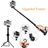 [2016 New Version] Selfie Stick, Foneso 6 in 1 Extendable Self-portrait Monopod for Gopro, iphone 6 6 plus 6s, 5s, Samsung Galaxy S6 S5, IOS & Android Smartphones
