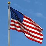 Best Choice Products 25ft Telescopic Aluminum Flagpole w/American Flag and Gold Ball - Multicolor