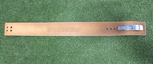 Strencor Leather Power Lifting Belt- Size Large by Strencor Fitness
