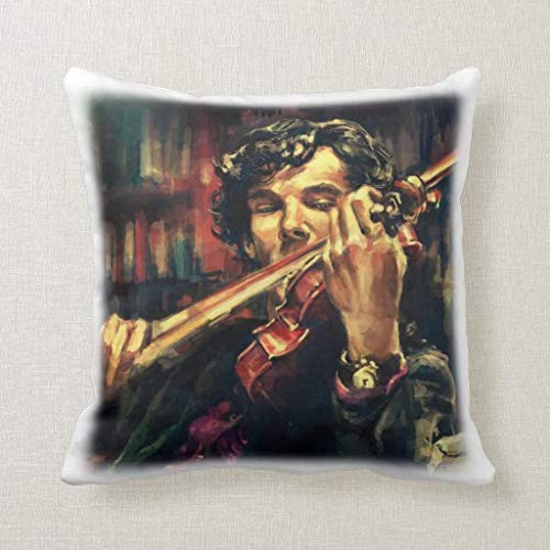 Baker Sofa - Pillow Sherlock Holmes Square Pillow Decorative Pillow For Home Sofa Couch Bedroom Car 14x14 Inch watson London Baker Street 221b Benedict Cumberbatch