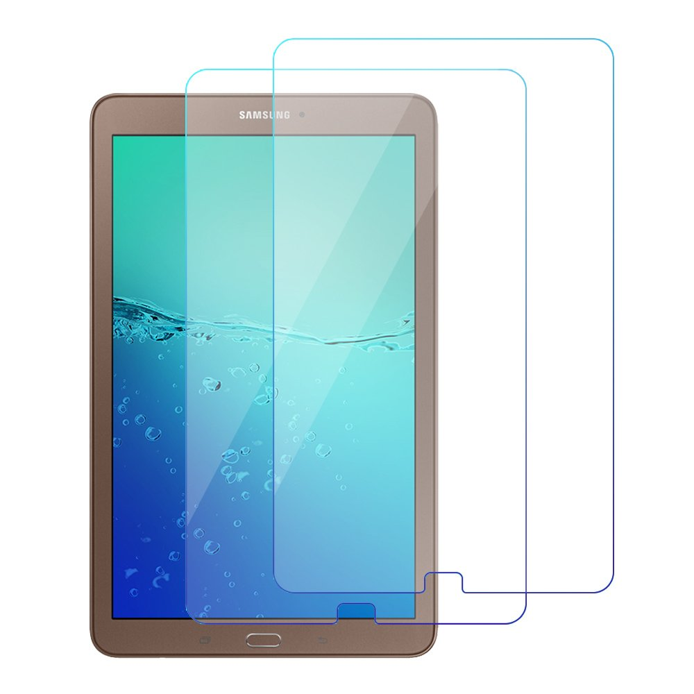 [2-PACK]Samsung Galaxy Tab E 9.6'' T560/T561 Screen Protector, Full Tempered Screen Protector[Anti-Bubble][HD Ultra Clear][Scratch Resist][Anti-Glare][Anti Fingerprint] Junhamor