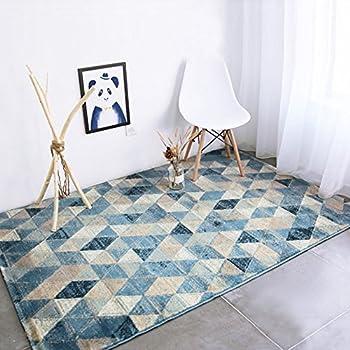 CBOKE Deluxe Indoor Modern Faux Sheepskin Shaggy Rugs Anti-Skid Shag Rug Dining Room Home Bedroom Carpet Floor Mat Kids Play Rug 45.6 x 62.9 Inch