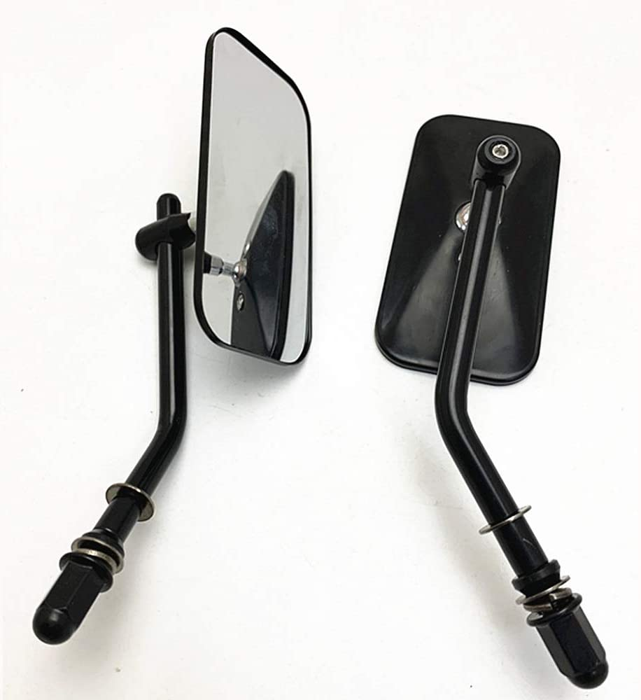 Round E-Bro Classic Black Motorcycle Mirrors 8mm//10mm Thread Rear View Mirror For Harley XL 883 1200 Iron 883 Road King