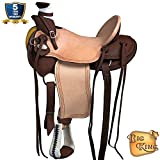 HILASON Western Horse Wade Saddle Leather Ranch Roping Dark Brown