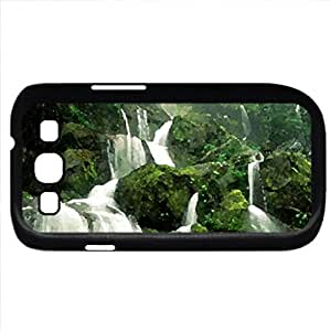 Nature's Awesome Beauty (Waterfalls Series) Watercolor style - Case Cover For Samsung Galaxy S3 i9300 (Black)