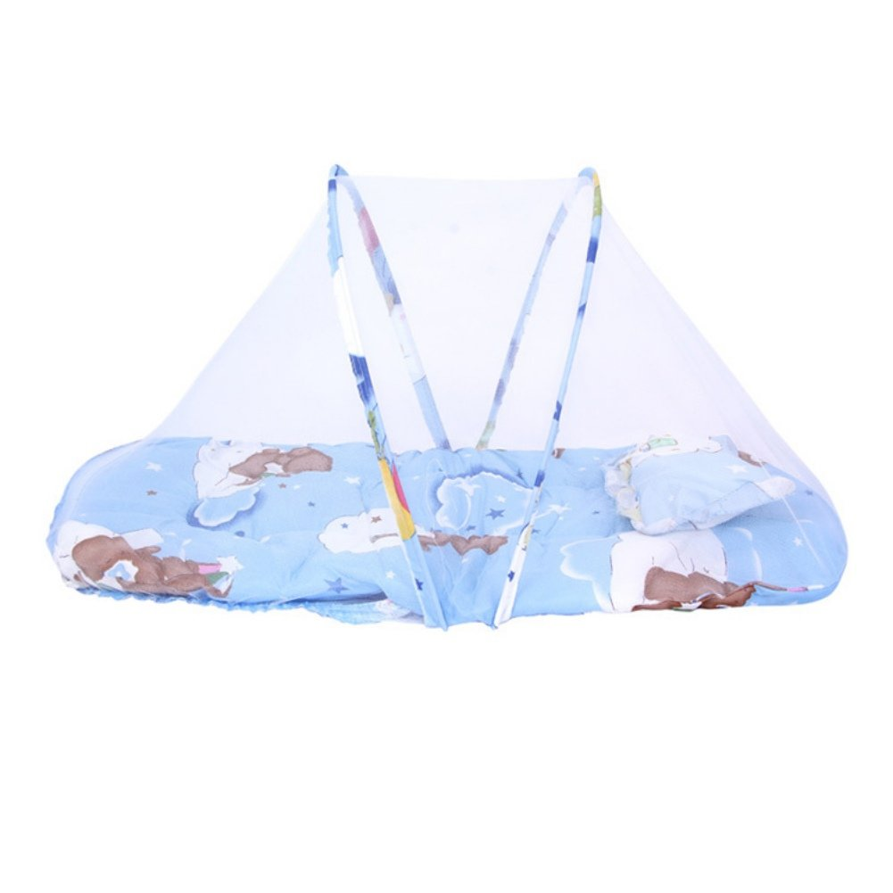 Mother & Kids Travel Outdoor Arched With Mattress Mosquito Net Portable Cartoon Ship Home Insect Protection Summer Baby Kid Crib Foldable Crib Netting
