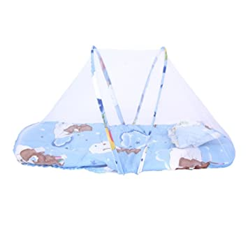 Mother & Kids Travel Outdoor Arched With Mattress Mosquito Net Portable Cartoon Ship Home Insect Protection Summer Baby Kid Crib Foldable Baby Bedding