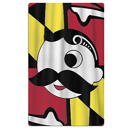 FSKDOM 100% Cotton Plush Maryland Flag Oversize Large - Velo