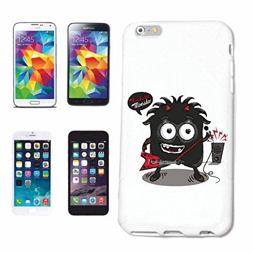 """cas de téléphone iPhone 7S """"MONSTER ROCKSTAR AVEC E GUITARE ET MICROPHONE TECHNO JAZZ FUNKY SOUL TRANCE FESTIVAL HOUSE HIPHOP HIP HOP DJ"""" Hard Case Cover Téléphone Covers Smart Cover pour Apple iPhone"""