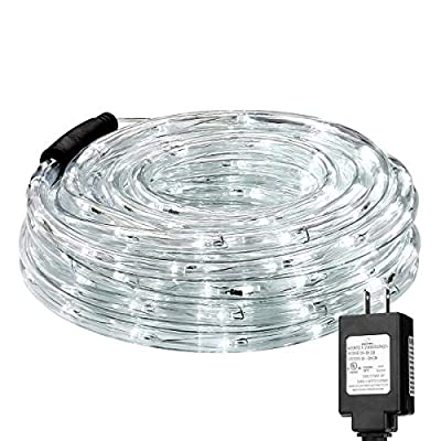 Cchainway 30m & 15m 110V 2-Wire Waterproof LED Rope Light Kit - Outdoor and Indoor Decorative Lights