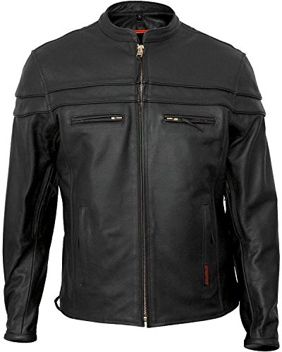 Leather Interstate Jacket Black - Fieldsheer Interstate Leather Men's Scooter Jacket Black 4XL I5373