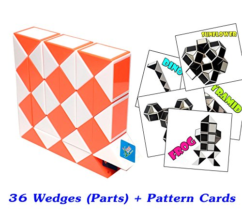 Original Speed Racer Costume (Rubik Snake Twist Puzzle 36 Wedges (Parts) with Pattern Cards Standard Size 1.3 inch for each Part)