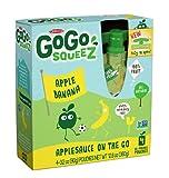 Gogo Squeeze Applesauce with Bananas, 4pk, 3.2 oz