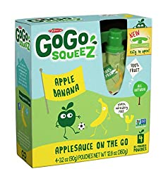 Gogo Squeeze Applesauce With Bananas, 4pk, 3.2 Oz