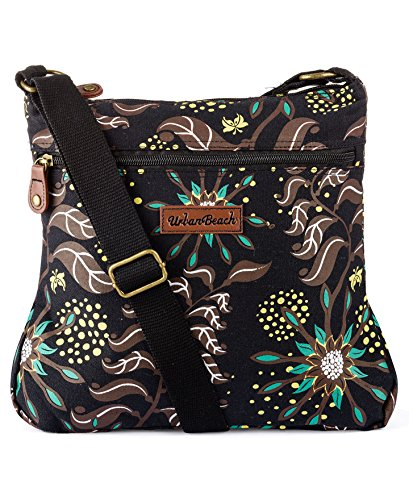 Urban Brown 03BR Tote amp; Gaia Beach Bag Canvas Pouch Womens Beach UBAAW30 rwqZ4zBgr