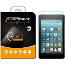 """Supershieldz for All Fire 7 Tablet 7"""" [Tempered Glass] Screen Protector, (7th Generation - 2017 Release) Anti-Scratch, Anti-Fingerprint, Bubble Free, Lifetime Replacement Warranty"""