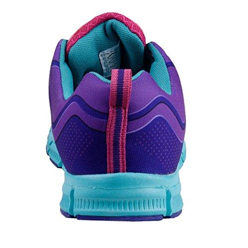 Oncle Sam Femmes sans Couture Chaussures Légères de Course en Violet/Turquoise Violet/Turquoise y8YZdP