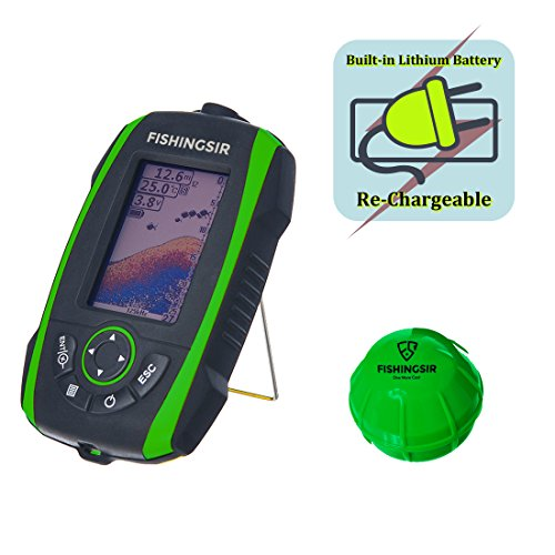 FISHINGSIR Wireless Portable Fish Finder Depth Finder Fishfinder with Sonar Sensor Transducer and 100M LCD colors Display by FISHINGSIR (Image #2)