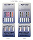 5 Pack Identify Diagnostics 10 Panel Drug Test Dip with Low Opiates Cutoff - Testing Instantly for 10 Different Drugs: THC, COC, MOP, OXY, MDMA, AMP, Bar, BZO, MET, MTD #ID-CP10-DIP