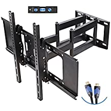 TV Wall Mount Bracket for LED, LCD, OLED and Flat Screen TVs (Dual Articulating Extension Arm 32-70 Inch)