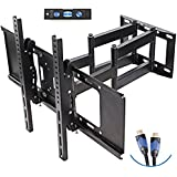 """TV Wall Mount with Dual Articulating Extension Arm, Tilt, Swivel and Rotation for 32-70"""" TVs, by Basics Hardware (32 to 70)"""