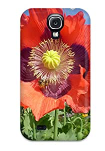 Jimmy E Aguirre's Shop Galaxy Case - Tpu Case Protective For Galaxy S4- Poppy Flower