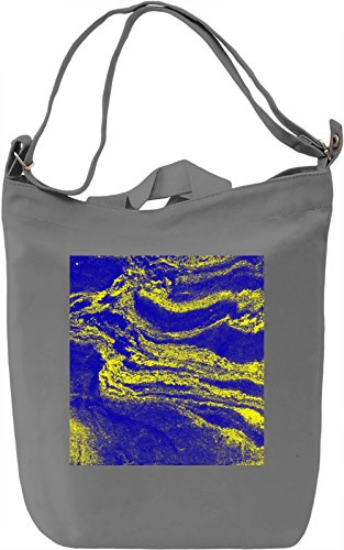 Blue and Yellow Print Borsa Giornaliera Canvas Canvas Day Bag| 100% Premium Cotton Canvas| DTG Printing|