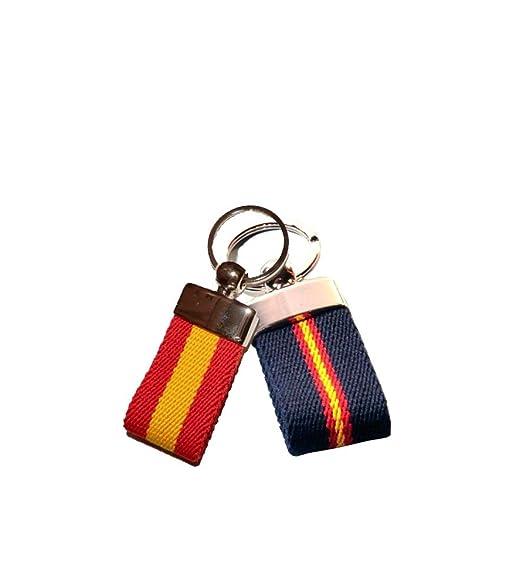 ZiNGS Llaveros cinturón con bandera de España - Azul oscuro ...