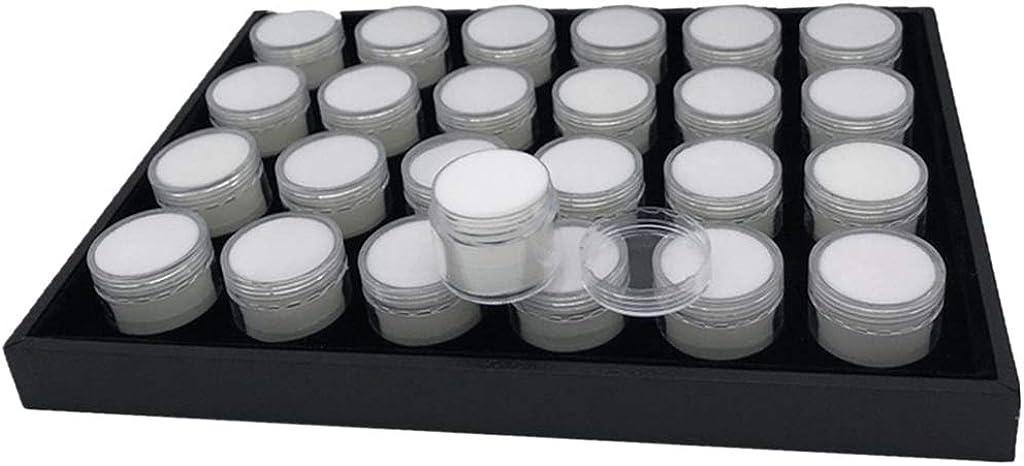 Sharplace 35 Rejillas Caja De Diamante Tarro Bandeja De Inserción De Espuma Organizador De Exhibición De Joyería Piedras Preciosas Estuche De Almacenamiento