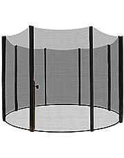 LZQ Vervangend net veiligheidsnet trampoline net voor trampoline tuintrampolines Ø 244/305/366/430 cm met ritssluiting, UV-bestendig, nethoogte ca. 165/180 cm