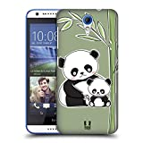 Head Case Designs Panda Animal With Offspring Hard Back Case for HTC Desire 816