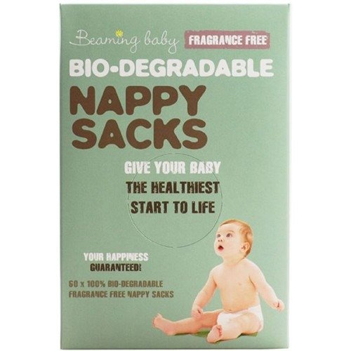 Beaming Baby Nappy Sacks Fragrance Free 60 Sacks X 5 (Pack of 5)