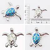 fire Opal Jewelry Opal Pendant Opal Necklace Sea Turtle Pendant Sterling Silver