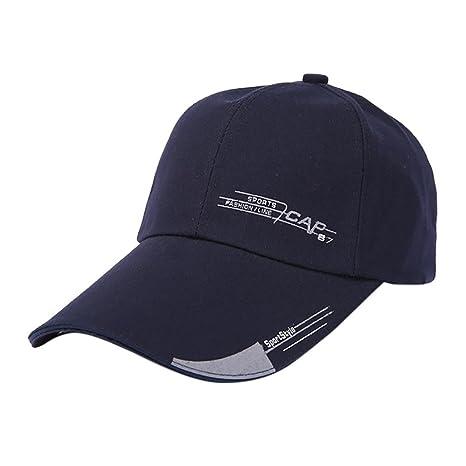 Morwind Berretto Baseball Estivo - Cappello Nero Semplice - Moda Donne Uomo  Regolabile Colorato Lettera Cappello 231499c2c21f
