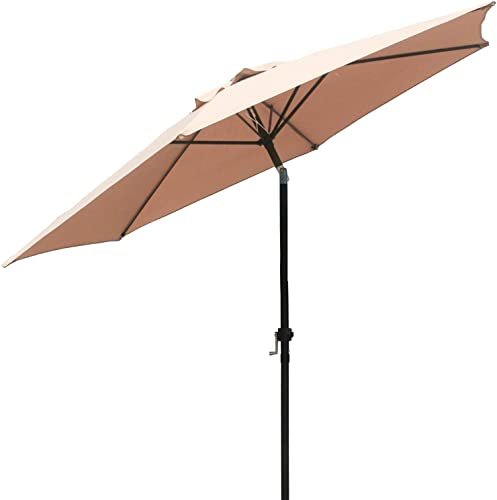 FDW Patio Umbrella 9' Aluminum Outdoor Patio Tan