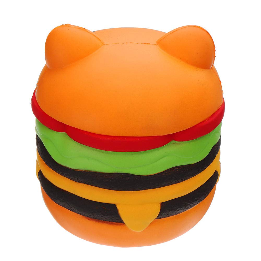 Giant Squishy Toy Soft Jumbo Slow Rising Squishies Collection Gift Decor Stress Reliever (Cat Burger) by Ganjiang (Image #4)