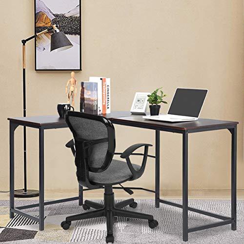 GreenForest L Shaped Desk Home Office Corner Computer Desk PC Laptop Study Table Workstation, Espresso by GreenForest (Image #8)