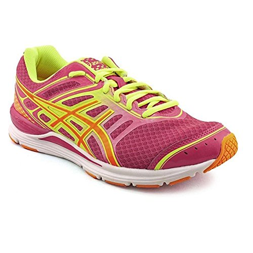 ASICS Women's Gel-Storm Running Shoe,Raspberry/Mango/Flash Yellow,6.5 M - Raspberry Shoe Sport