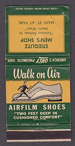 Airfilm Shoes Stieglitz Men's Shop Main St & Park matchcover (Main St Shops)