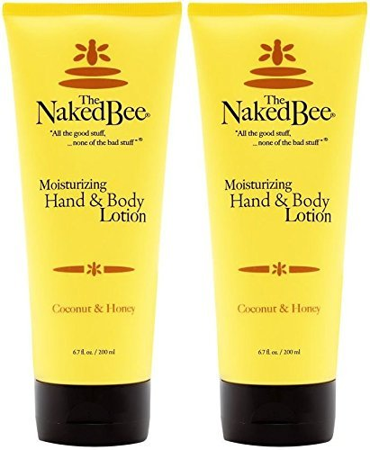(The Naked Bee Moisturizing Hand & Body Lotion, 6.7 Ounce (2 Pack, Coconut &)