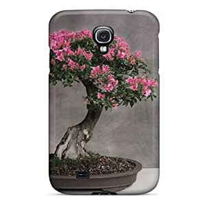 Snap-on Cases Designed For Galaxy S4- Pink Flowers Bonsai