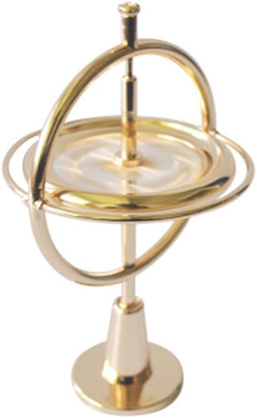 Girocompás del metal del balance de la ciencia antigravedad adultos descompresión de artefactos y juguete de la educación de rotación de aleación de zinc y hierro tecnología de giroscopio mecánico,Oro